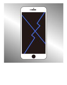 アイフォン ガラス割れ+液晶修理