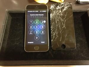 iphoneSE gamen broken 190522