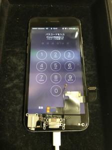 交換したドックコネクタとお修理後のiPhone5s