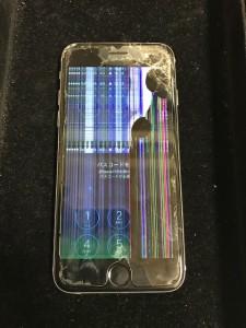 液晶漏れが起きているiPhone6s