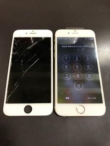 iPhone6s画面割れ修理