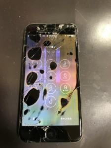 液晶漏れしているiPhone6