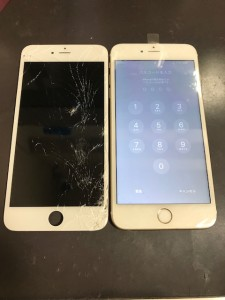 iPhone6Plus 画面割れ修理