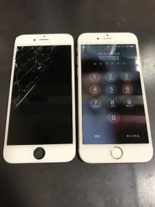 画面上部が割れたiPhone6s