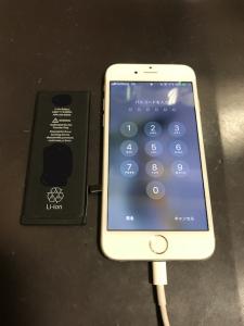 バッテリーとiPhone6