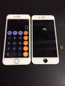 画面に亀裂の入ったiPhone7