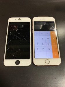 iPhone6sPlusと割れた画面