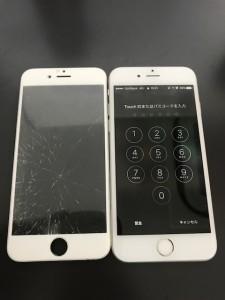 IPHONE6sと破損した画面