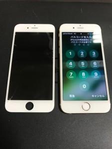 ガラスに亀裂が入ったiPhone6