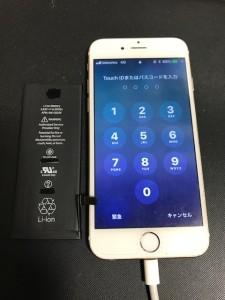 アイフォーン6と交換後のバッテリー