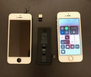 画面、バックカメラ、バッテリーを交換したiPhone5s