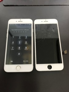 画面上部が割れたiPhone7