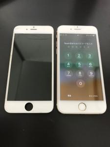 iPhone6と交換した液晶パネル