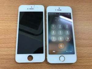 画面の上部が破損したiPhone5s