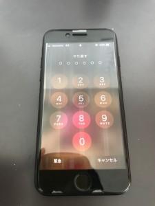 液晶に線が入ったiPhone7の画面