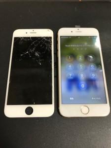 画面上部がバキバキのiPhone6