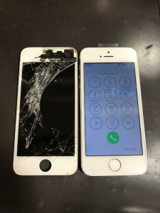 iPhone5sと交換した液晶画面