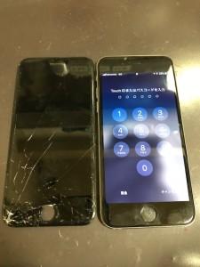 画面下部がバキバキのiPhone6