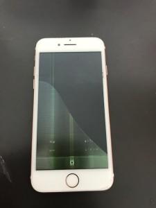 液晶がダメになったiPhone7
