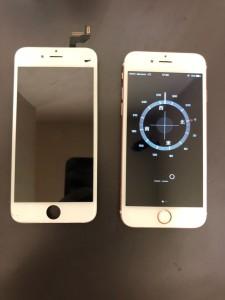 映らなくなった画面と修理後のiPhone6s
