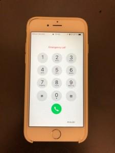 誤作動が起こっているiPhone6