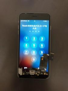 充電できなくなったドックコネクタと修理後のiPhone6s+