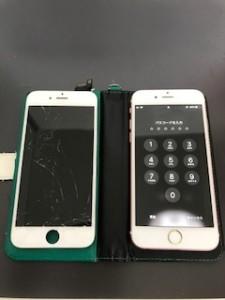 画面が損傷したiPhone6s