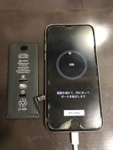 iPhone6と交換後のバッテリー