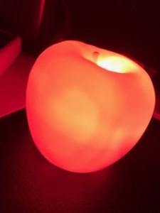 リンゴ型のライト
