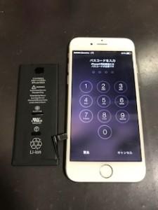 IPHONE6と交換したbattery