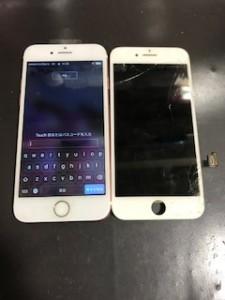 iPhone7と修理交換後のパネル