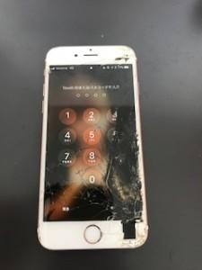 画面下部のパネルが剥がれたアイフォン6s