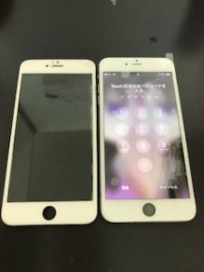 液晶が損傷したiPhone6sPlus