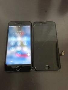 iPhone7とガラスが割れた画面