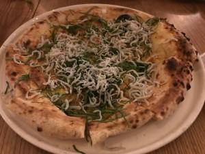 シラスと大葉のピザ