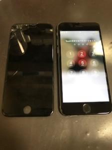 画面上部が剥がれたiPhone6