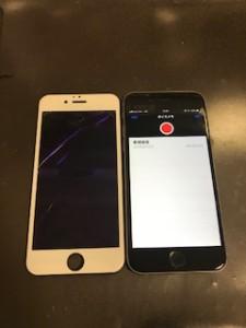 iPhone6と液晶に縦線が入ったパネル
