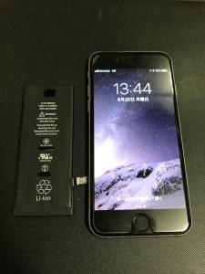 アイフォーン6と交換したバッテリー