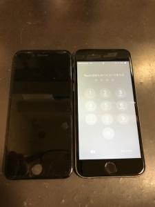 iPhone6sと修理後にパネル