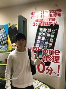iPhone7の修理にご来店頂いたお客様