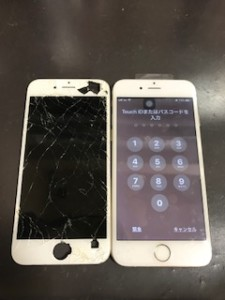 iPhone6画面割れ修理