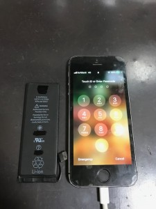 iPhone5sバッテリー交換