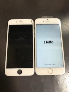 iPhone6s液晶画面割れ
