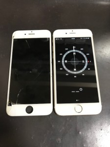 iPhone6s画面割れ修理