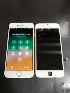 iPhone8液晶画面修理