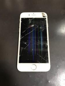 液晶不良のiPhone6