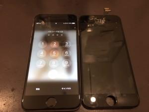 アイフォン6 画面割れ修理