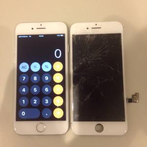 アイフォーン7 ガラス+液晶修理