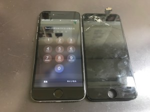 iPhone6 画面修理後