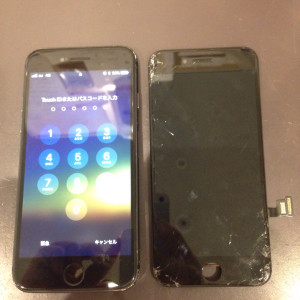 iPhone7の液晶画面修理後